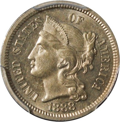 Image of 1888 3cN PCGS Proof 63 - No Reserve!