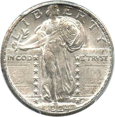Image of 1924-D 25c PCGS/CAC MS65