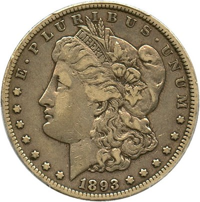Image of 1893-CC $1 PCGS/CAC VF30