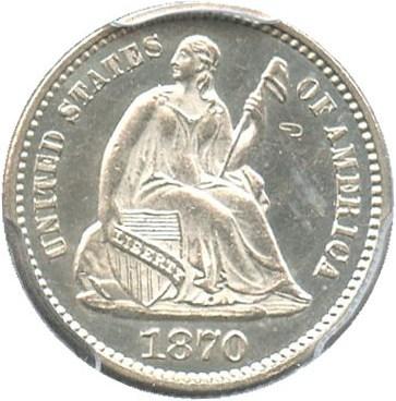 Image of 1870 H10C PCGS Proof 63 CAM