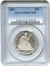 Image of 1881 50c PCGS Proof 63 Cameo