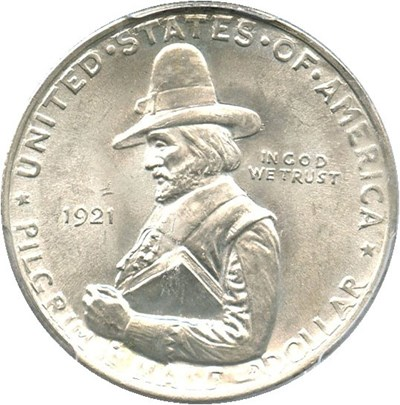 Image of 1921 Pilgrim 50c PCGS MS65