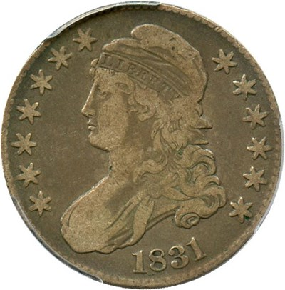 Image of 1831 50c PCGS F15