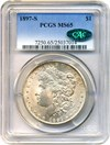 Image of 1897-S $1 PCGS/CAC MS65
