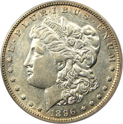 Image of 1896-O $1 PCGS AU50 - No Reserve!