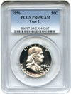 Image of 1956 50c PCGS Proof 69 Cameo (Type 2) Gorgeous Gem