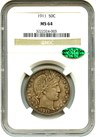 Image of 1911 50c NGC/CAC MS64 - No Reserve!