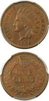 Image of 1869 1c PCGS AU50