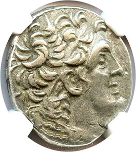 Image of 80-51 BC Ptolemy XII AR Tetradrachm NGC Ch XF (Ancient Greek) Strike: 5/5, Surface Quality: 4/5.