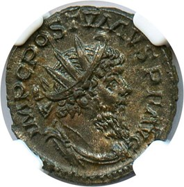 Image of 260-269 AD Postumus BI Double-Denarius NGC AU (Anicent Roman) Strike: 5/5, Surface Quality: 4/5.