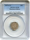 Image of 1875-CC 10c PCGS VF35 (Mintmark Below)
