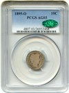 Image of 1895-O 10c PCGS/CAC AG-3 - Key Date