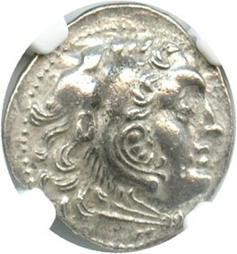 Image of 336-323 BC Alexander III AR Drachm NGC Ch XF (Ancient Greek) Strike: 4/5, Surface Quality: 4/5.