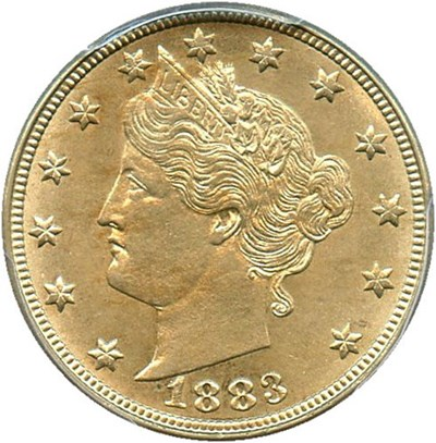 Image of 1883 5c PCGS MS64 (No Cents)