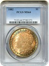 Image of 1882 $1 PCGS MS64 - Colorful Toning