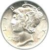 Image of 1945-D 10c PCGS MS64