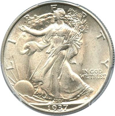 Image of 1937 50c PCGS AU58