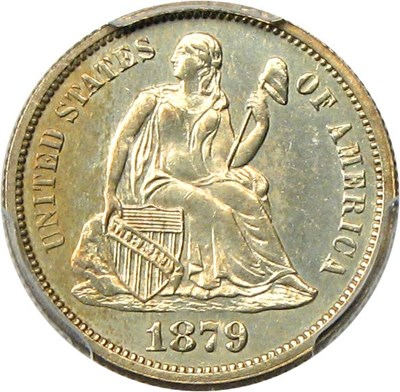 Image of 1879 10c PCGS Proof 63 - No Reserve!