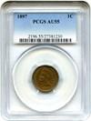 Image of 1897 1c PCGS AU55