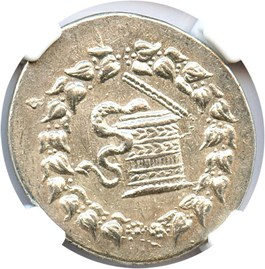 Image of 180/167-133 BC Ionia AR Cistophorus NGC AU(Ancient Greek) Strike: 4/5, Surface Quality: 4/5.