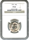 Image of 1951 25c NGC Proof 66