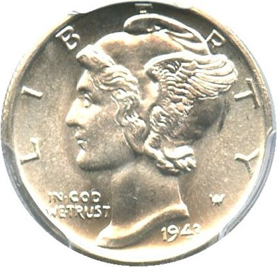 Image of 1943-S 10c PCGS/CAC MS67 FB
