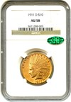 Image of 1911-D $10 NGC/CAC AU58 - Key Date