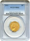 Image of 1911 $5 PCGS MS62 - No Reserve!