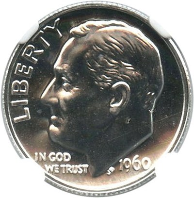 Image of 1960 10c NGC Proof 67