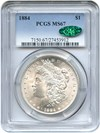 Image of 1884 $1 PCGS/CAC MS67 - One of the Finest Known
