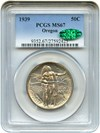 Image of 1939 Oregon 50c PCGS/CAC MS67 - Colorful Reverse Toning