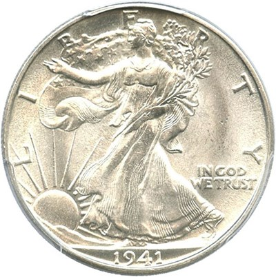 Image of 1941-S 50c PCGS MS65