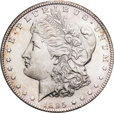 Image of 1895-S $1 PCGS MS63 - Looks Prooflike, Key Date