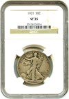 Image of 1921 50c NGC VF35 - Key Date