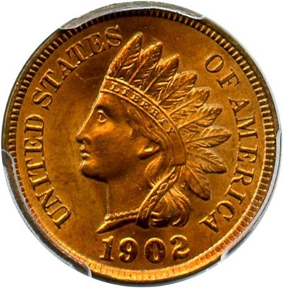 Image of 1902 1c PCGS MS65 RB - Looks Red!