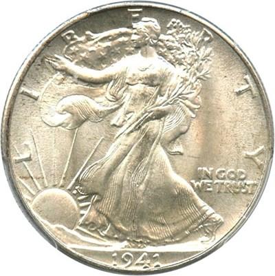 Image of 1941 50c PCGS/CAC MS67