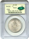 Image of 1936 Rhode Island 50c PCGS/CAC MS65