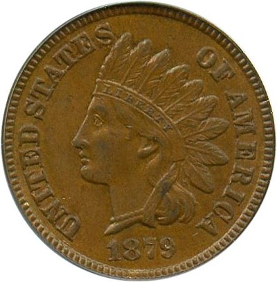 Image of 1879 1c PCGS/CAC MS63 BN (Eagle Eye Photoseal)