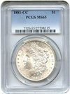 Image of 1881-CC $1 PCGS MS65