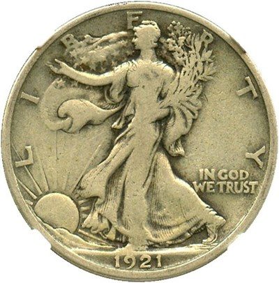 Image of 1921-D 50c NGC/CAC F15 - Key Date