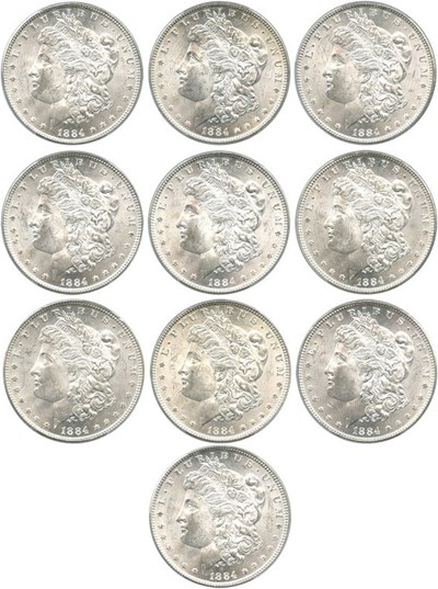 Image of Investor Lot: 1884 $1 PCGS MS63 (10 Coins)