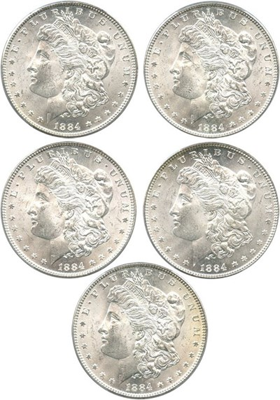 Image of Investor Lot: 1884 $1 PCGS MS64 (5 Coins)