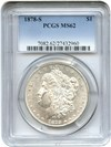 Image of 1878-S $1 PCGS MS62