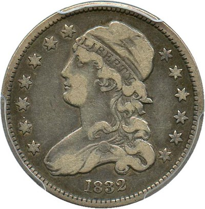 Image of 1832 25c PCGS/CAC VF20