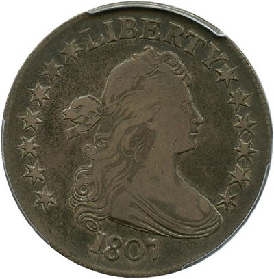 Image of 1807 50c PCGS/CAC VF20 (Draped Bust)