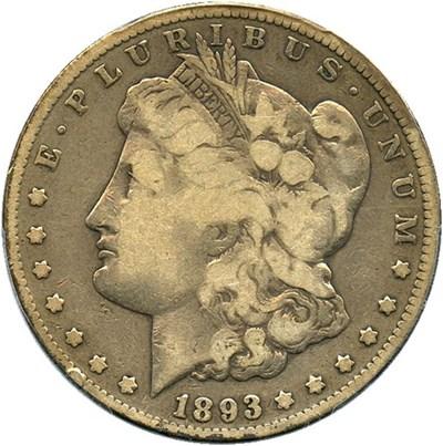 Image of 1893-CC $1 PCGS/CAC VG-8