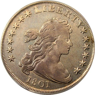 Image of 1801 $1 PCGS VF20 OGH