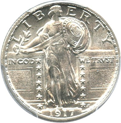 Image of 1917-D Type 2 25c PCGS MS64