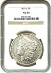 Image of 1893-S $1 NGC AU50 - Key Date