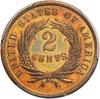 Image of 1869 2c PCGS/CAC PR 64 RB